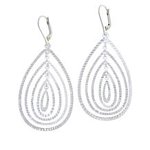 Sevilla Silver™ Diamond-Cut Multi-Oval Drop Earrings