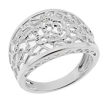 Sevilla Silver™ Filigree Flower Band Ring