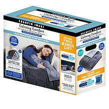 Sharper Image Calming Comfort 12 lb. Weighted Blanket and Knee Pillow