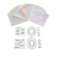 Sizzix® Framelits® Sentiments and Patterned Paper