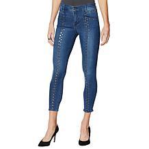 Skinnygirl Scorpio Studded Skinny Ankle Jean