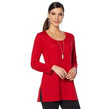 Slinky® Brand 2pk 3/4-Sleeve Scoop-Neck Sweater Tunics