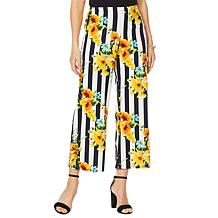 Slinky® Brand Printed Luxe Crepe Palazzo Pant