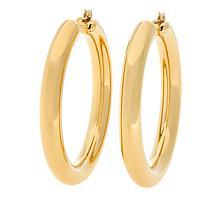 """Soave Oro 14K Electroform 5mm Round Hoop Earrings - 2"""""""