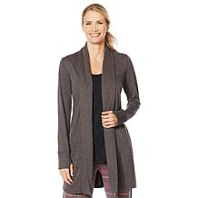 Soft & Cozy Brushed Jersey Knit Wrap with Shirred Back