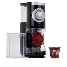 Solofill Electric Coffee Burr Grinder with 2 Refillable Pods