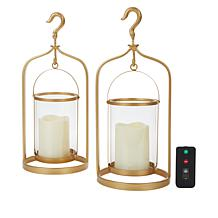 South Street Loft Set of 2 Lanterns with Remote Control