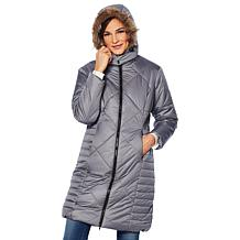 076bfa5f3c ... Sporto® Water-Repellant Long Quilted Coat ...