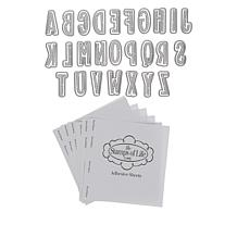 Stamps of Life Dotted Alphabet Dies and Adhesive Set
