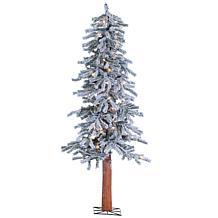 Sterling Lighted Flocked Alpine Christmas Tree