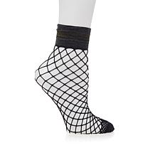 Steve Madden Fishnet Anklet with Banded Cuff