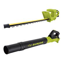 Sun Joe 18 24-Volt Hedge Trimmer & Blower Set