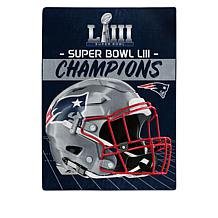 "Super Bowl LIII Champs Officially Licensed 60"" x 80"" Silk Touch Throw"