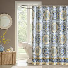 Tangiers Medallion-Design 100% Polyester Shower Curtain