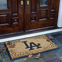 team door mat los angeles dodgers mlb