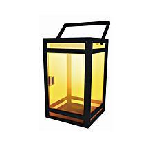 Techko Solar Portable Lantern Amber or White Light Clear Panel