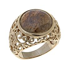 Technibond® Labradorite Filigree Ring