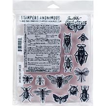 "Tim Holtz Cling Stamps 7"" x 8.5"" - Entomology"