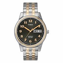 Timex Men's 2-Tone Stainless Steel EZ-Reader Expansion Band Watch
