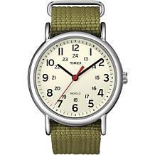 Timex Unisex Weekender Olive Nylon Strap Watch