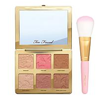 Too Faced Natural Face Palette with Flatbuki Brush