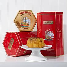 Tortuga Set of 2 Holiday Tins with 8 Golden Rum Cakes