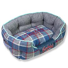 Touchdog Archi-Checked Designer Plaid Oval Dog Bed