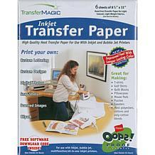 """TransferMagic 8-1/2"""" x 11"""" Inkjet Transfer Paper"""
