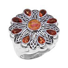 Traveler's Journey Synthetic Fire Opal Doublet Ring
