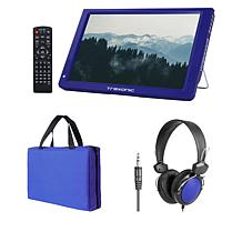 """Trexonic 14"""" LED Portable TV with Carry Bag, Headphones and Antenna"""
