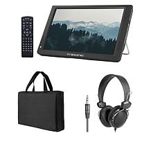 """Trexonic 14"""" Portable LED TV with Antenna, Carry Case and Headphones"""
