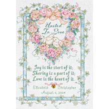 United In Love Wedding Record Cross Stitch Kit