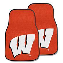 University of Wisconsin Carpet Car Mat Set - 2 Pieces