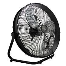 "Vie Air 20"" Industrial Floor Drum Fan with 3 Speed, 360 Tilt Head"