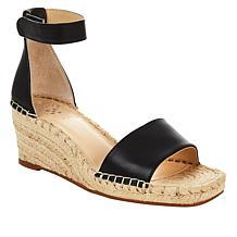 Vince Camuto Jesla Leather Espadrille Wedge Sandal