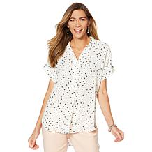 16d786e4a5515 Vince Camuto Oasis Bloom Popover Blouse