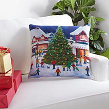 """Warm & Cozy 20"""" x 20"""" Holiday Heritage Printed Pillow"""