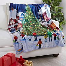 "Warm & Cozy 50"" x 60"" Holiday Heritage Printed Throw"