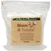 Warm and Natural Cotton Batting - Full Size