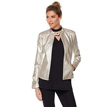 Warrior by Danica Patrick Faux Leather Quilted Jacket