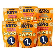 WeDoKeto Gluten-Free (6) 3 oz. Cracker Variety Pack
