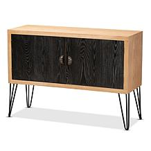 Wholesale Interiors Denali Wood and Metal Storage Cabinet