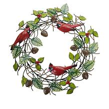 "Wind and Weather 20"" Metal Holiday Wreath"