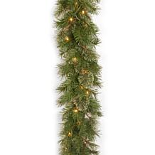 Winter Lane 9' Atlanta Spruce Garland w/Lights