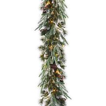 Winter Lane 9' Liberty Pine Garland w/Lights