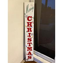 Winter Lane Reversible Holiday and Fall Wooden Sign