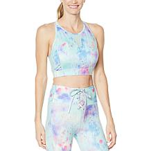 WVVYPower High-Neck Mesh-Inset Sports Bra