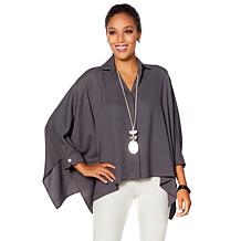 WynneLayers Crepe Georgette Unstructured Shirt