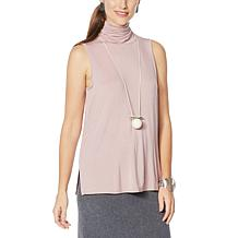 WynneLayers Sleeveless Knit Turtleneck Top
