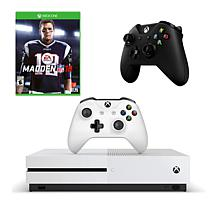 "Xbox One S 1TB 4K Game Console with ""Madden NFL '18"" and Controller"
